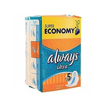 Pack económico 144 toallas higiénicas de la marca Always simply fits de talla normalplus