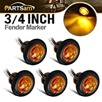 Partsam 3/4 led marker lights w bullet ends-5pcs