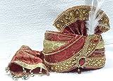 wedding safa/turban/pagdi for men maroon color dulha marriage pagdi for Bridegroom
