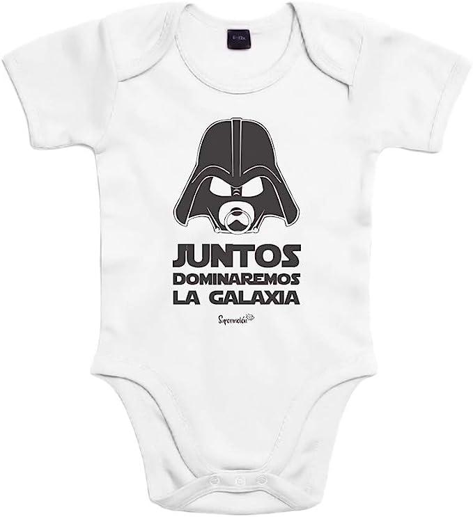 SUPERMOLON Body bebé algodón Juntos dominaremos la galaxia 3 meses ...