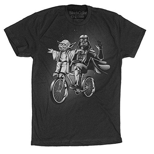 Men's Star Wars Shirt - Yoda & Darth Vader Bike T-Shirt