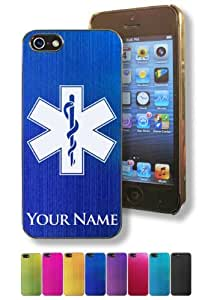 Apple Iphone 5/5S Case/Cover - STAR OF LIFE, EMT - Personalized for FREE (Click the CONTACT SELLER button after purchase and send a message with your case color and engraving request) by lolosakes by lolosakes
