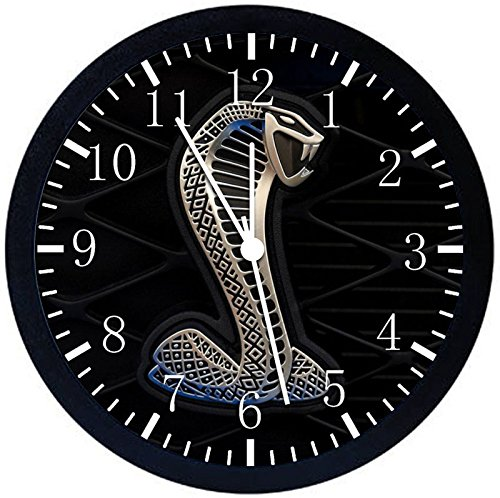 Mustang Cobra Shelby GT Black Frame Wall Clock W195 Nice For Gift or Home Office Wall Decor 10