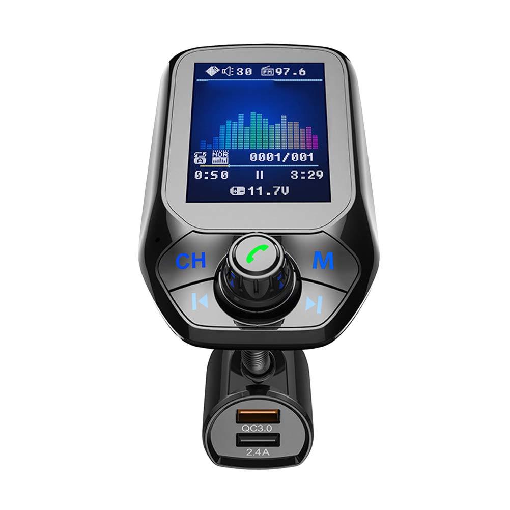LIOOBO t43 デジタル Bluetooth 音楽プレーヤー 車 アダプター 充電器 USB tf カード 音楽 fm トランスミッター (ブラック)   B07PLVGNFX