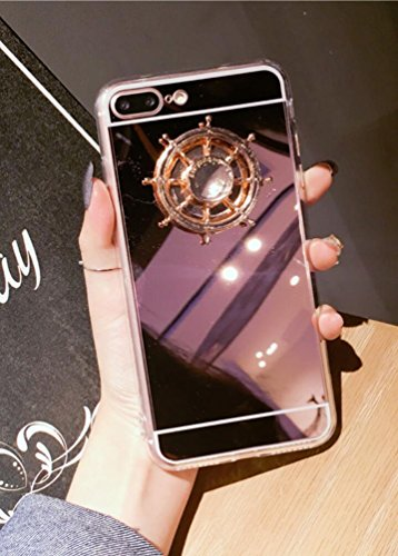 Price comparison product image Losin LG G6 Case Ultra Thin Luxury Reflective Make Up Mirror 3D Steering Wheel Fidget Spinner Soft TPU Back Case