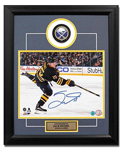 Autographed Jack Eichel Hockey Puck - NHL 23x19 Frame - Autographed NHL Pucks (Frame Hockey Puck)