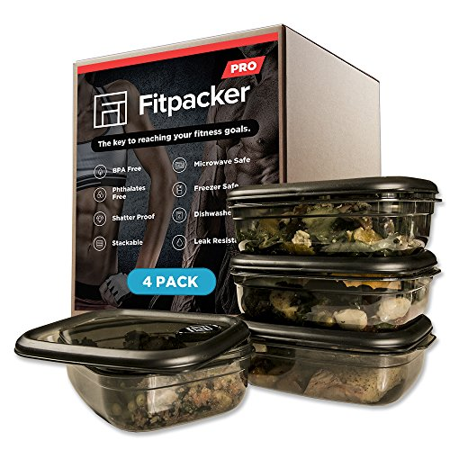 Amazon.com: Fitpacker PRO Premium Meal Prep Containers - Rugged Food Storage - Microwaveable, Freezer Safe (33oz - 4pack): Kitchen & Dining