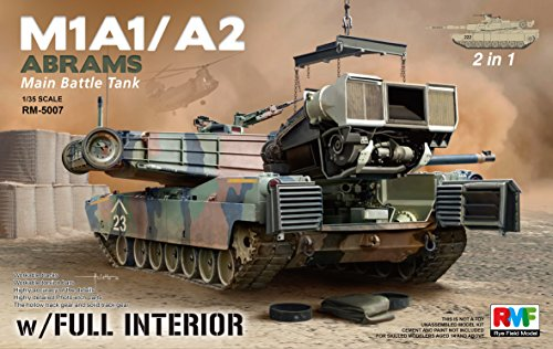 (RFMRM5007 1:35 Rye Field Model M1A1 M1A2 Abrams with Full Interior (2 in 1) [MODEL BUILDING KIT])