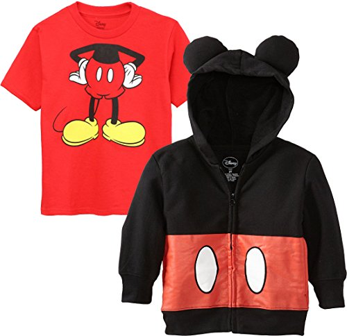Mickey Mouse Costumes T-shirt (Disney Mickey Mouse Costume Hoodie T-Shirt Set)