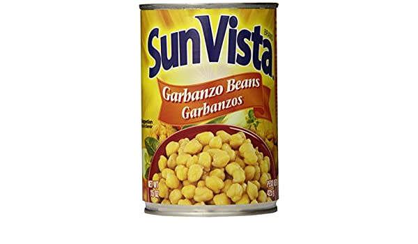 Amazon.com : Sun Vista Garbanzo Beans, 15 Ounce (Pack of 12) : Grocery & Gourmet Food