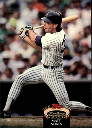 Amazoncom 1992 Stadium Club Baseball Card 111 Matt Nokes