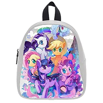 63a8213abc58 Amazon.com   Fashion High-grade PU leather My little pony Bag School Book  Travel Bag Backpack Daypack For Boys Girls Small   Baby