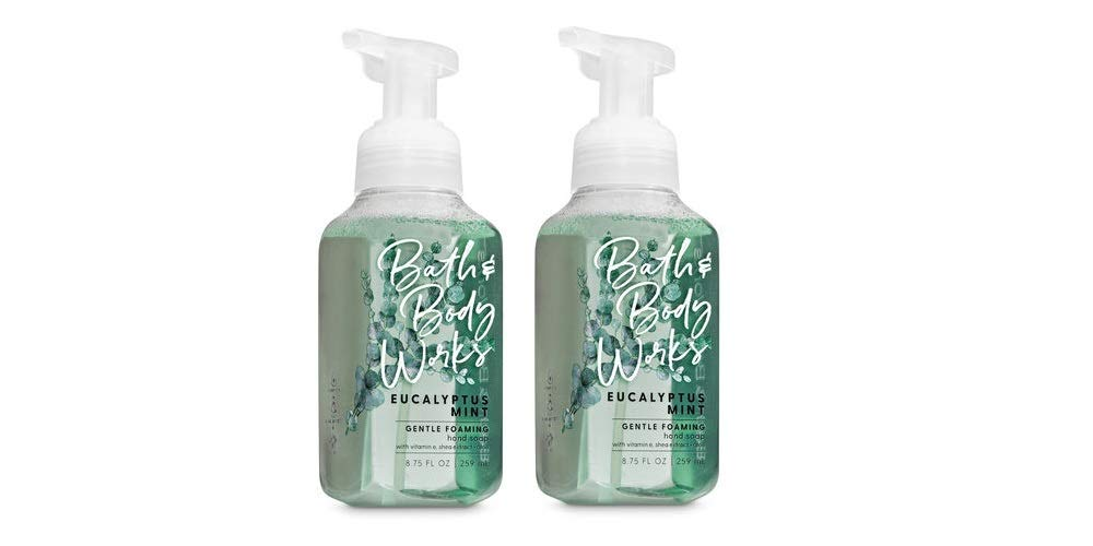 Bath and Body Works Eucalyptus Mint, Gentle Foaming Hand Soap, 8.75 Ounce (2-Pack)