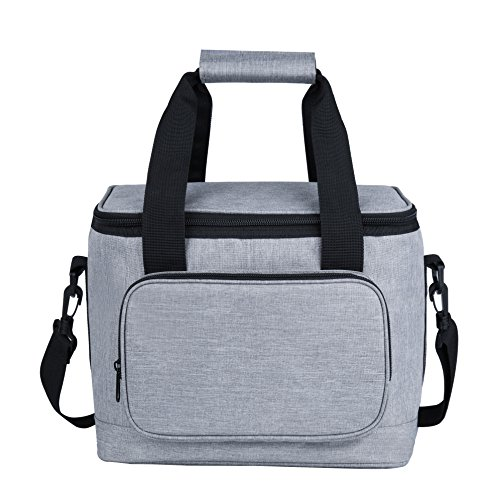 Large Lunch Bags for Women Men,Reusable Insulated Lunch Box with Straps for Adults Use for Work,School,Picnic,On The Go (13L, Gray)