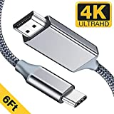 USB C to HDMI Cable(4K@60Hz),Highwings 6ft/1.8m USB Type C to HDMI Cable(Thunderbolt 3 Compatible) Compatible Samsung Note 9/S9 /S8/Note 8,MacBook/MacBook Pro/iMac 2017/Surface Book 2,and More
