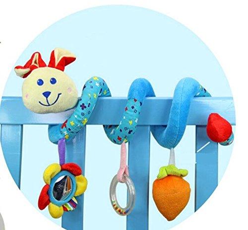 Lytshop Kids Cute Toy Pram Spiral RattlesToys Stroller Hanging Toy Seat Toy for Unisex Baby