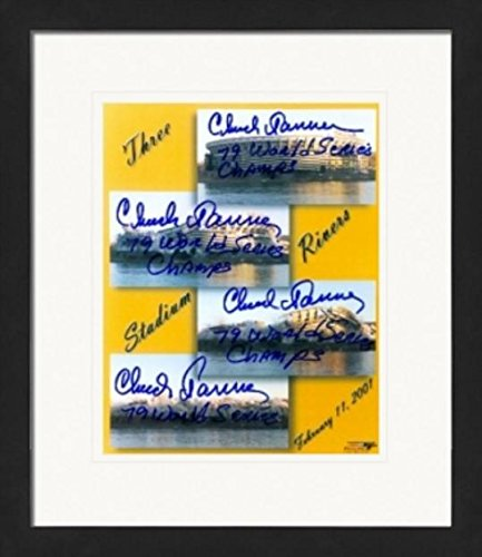 autographed 8x10 Photo (Pittsburgh Pirates) signed by Chuck Tanner, Tim Foli, Ed Ott, & Don Robinson Matted & Framed (Pittsburgh Pirates Three Rivers Stadium)