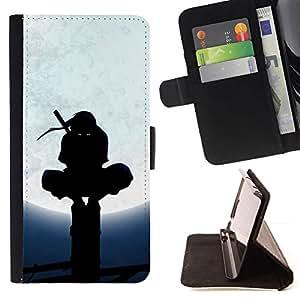 DEVIL CASE - FOR Apple Iphone 6 PLUS 5.5 - Samurai Ninja Warrior Full Moon - Style PU Leather Case Wallet Flip Stand Flap Closure Cover