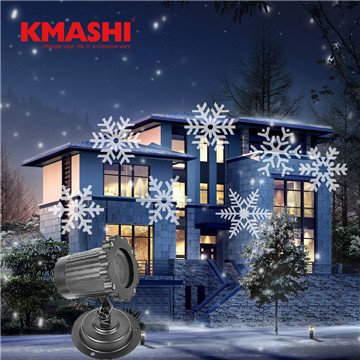 white snowflake, China, AC 110V US : Kmashi christmas decoration lights waterproof outdoor decoration snowflake led projector lamp Plug-in Fairy Lights