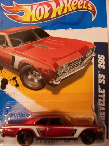 Hot Wheels 2012 '67 Chevelle SS 396 Red Muscle Mania GM Card 110