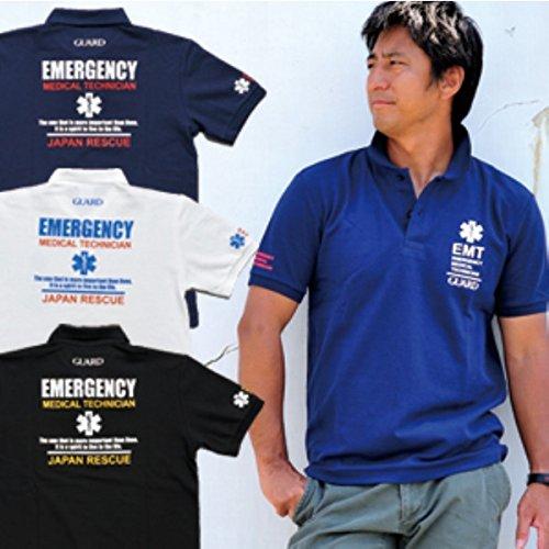 暴徒大邸宅泥GUARD ガード EMTデザイン 鹿の子ポロシャツ/ライフガード 医療チームのユニフォームとしても人気 pol-161