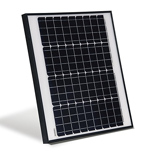 ALEKO SPU50W12V 50 Watt 12 Volt Monocrystalline Solar Panel for Gate Opener Pool Garden Driveway -