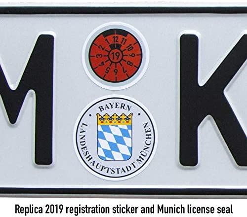 BMW POWER LOGO 3D European Euro License Number Plate Holder Frame German