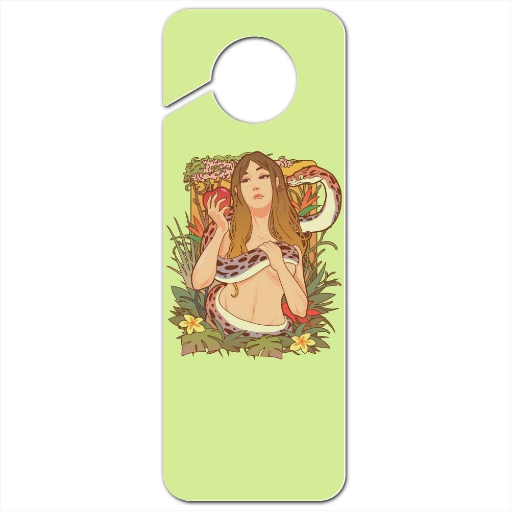 GRAPHICS & MORE Eve with and Snake in Garden of Eden Plastic Door Knob Hanger Sign