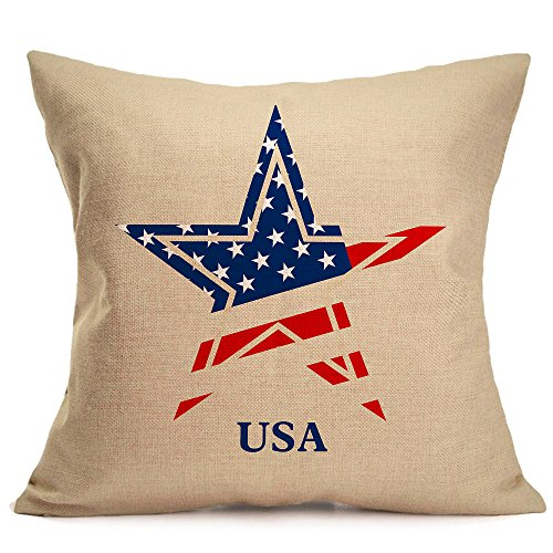 Puyujin Independence Day Products - Pillow Cover American Independence Day 4th Of July Pillow Cases Sofa Cushion Cover Home Pillow Case Home Decor Independence Day Pillowcase Sofa (G)