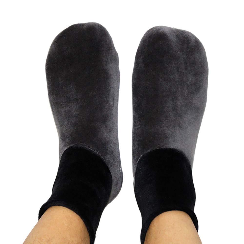 Beautyfine Men Home Bed Sock 2018 Winter Warm Thicke Non Slip Elastic Floor Socks Slipper