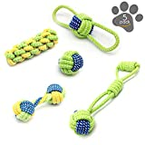 Pluv Dog Rope Toys Set Cotton Rope for Small to Medium Pets 100% Natural Cotton Fibers without Glues or Chemical Dyes Dog Dental Chew Toys for Dental Care Set of 5 Pack