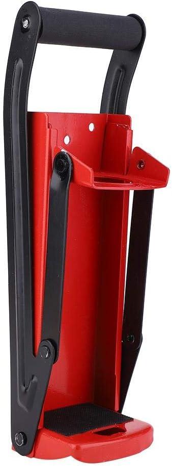 Trituradora de latas de 500ML, Trituradora de latas con mango, Herramienta de reciclaje de botellas de plástico de goma de acero rojo con abridor, para latas y latas de bebidas Uso cómodo Nuevo