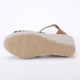 Sandalias para Mujer, ❤Absolute 2019 Zapatos de Cuña de Mujer de Las Señoras Zapatos de Tacón Alto de la Plataforma de Las Sandalias de Verano Mocasines ...