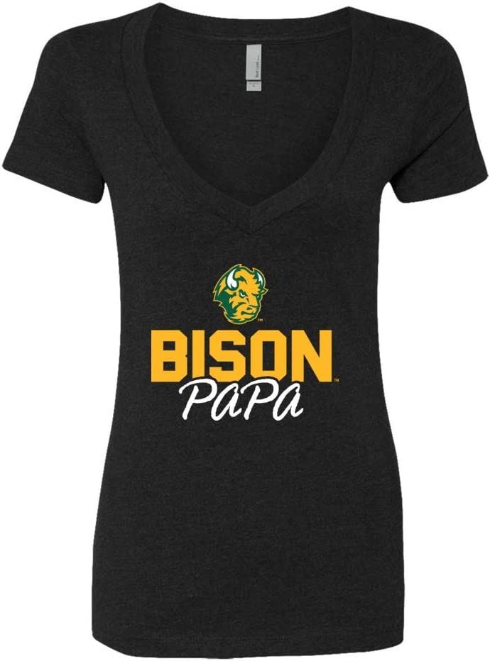 Papa T-Shirt T-Shirt Tank FanPrint North Dakota State Bison T-Shirt