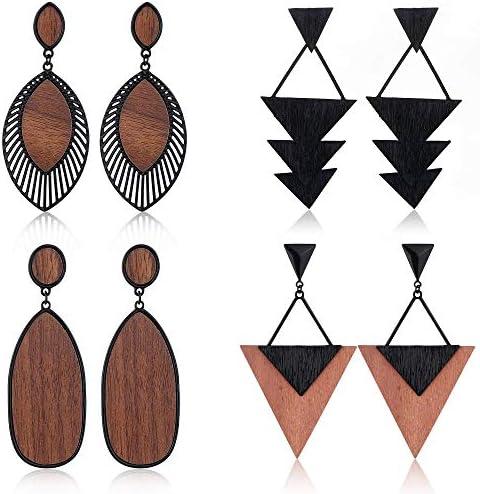 Holz Creolen Holzohrringe Loop hölzern rund schwarz natürlich alternativ Damen