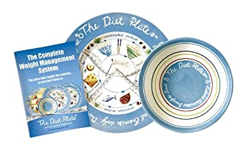 The Diet Plate and Calorie Bowl for portion control and weight loss - Male  version