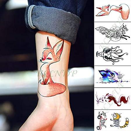 Etiqueta engomada del Tatuaje Temporal a Prueba de Agua Pelo Largo ...