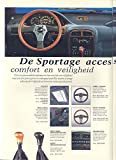 1995 Kia Sportage Accessories Brochure Dutch Korea