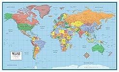24x36 World Classic Elite Wall Map Mural...