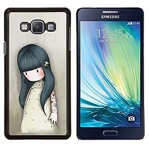 Eason Shop / Premium SLIM PC / Aliminium Casa Carcasa Funda Case Bandera Cover - Madre Mamá Niños Dibujo triste Profundo - For Samsung Galaxy A7 ( A7000 )