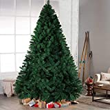 Hilai 6ft Artificial Christmas Tree Unlit Pine Tree with Solid Metal Stand Fluffy Xmas Tree 1000 Tips Festival Party Holiday Decoration