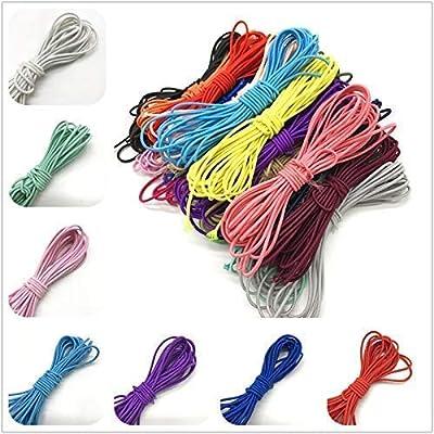 27 m goma elastica de colores para mascara facial de proteccion y costura//manualidades 1.5 mm resistente y calidad de CHIPYHOME