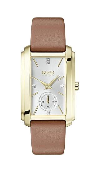 Hugo Boss Watch Reloj Analógico para Mujer de Cuarzo con Correa en Cuero 1502439: Amazon.es: Relojes