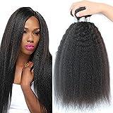 3 bundles brazilian yaki straight hair extensions human hair weave kinky straight virgin hair unprocessed virgin brazilian hair weave bundles (20 20 20) Review