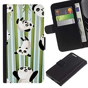 A-type (Happy Cute Bamboo Japan Kids) Colorida Impresión Funda Cuero Monedero Caja Bolsa Cubierta Caja Piel Card Slots Para Apple (5.5 inches!!!) iPhone 6+ Plus / 6S+ Plus