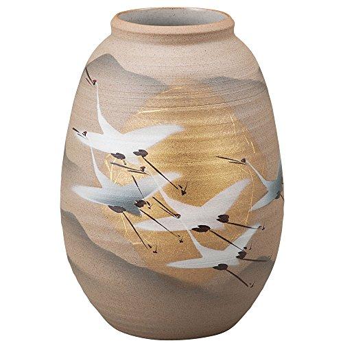 Kutani Yaki(ware) Vase Gold Leaf & Crane