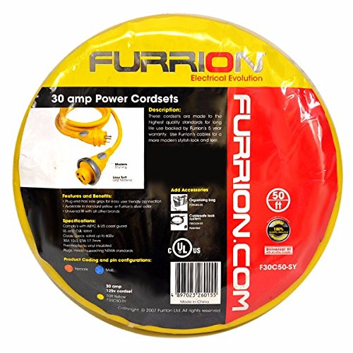Furrion F30C50-SY Yellow 50' 30 Amp Cordset