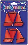 Trucks & Diggers Under Construction Party Traffic Cone Candles x 6