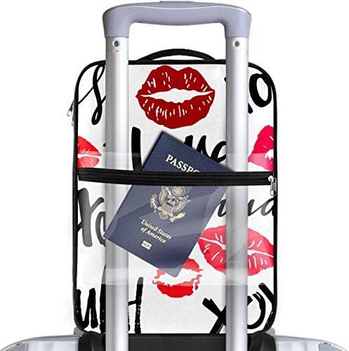 MYSTAGE シューズバッグ 靴箱 シューズケース シューズ袋 旅行収納ポーチ 二層式 靴入れ 小物収納 収納ケース アウドドア 出張 旅行 唇 口紅 キス バレンタインデー