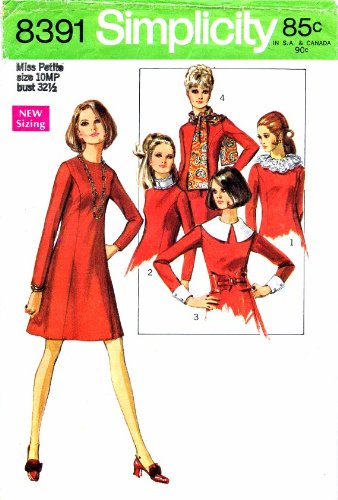 (Simplicity 8391 Sewing Pattern Misses Aline Mod Dress Size 10 Bust 32 1/2)